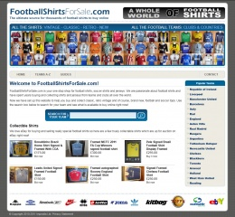 footballshirtsforsale.com screenshot